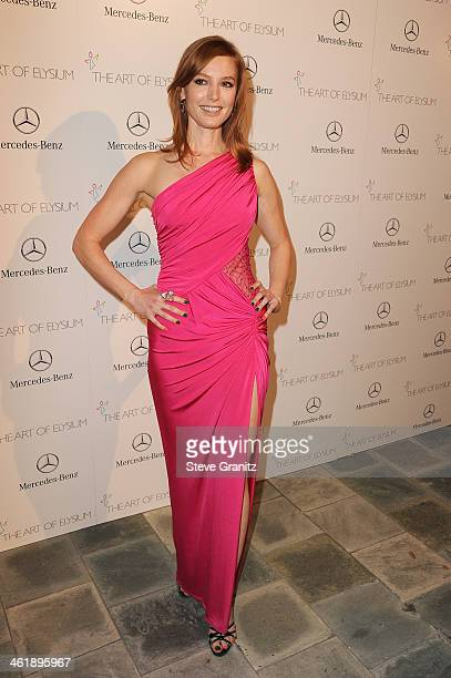 Actress Alicia Witt arrives at The Art of Elysium's 7th Annual HEAVEN Gala presented by MercedesBenz at Skirball Cultural Center on January 11 2014...