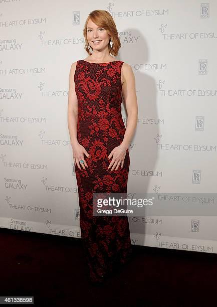 Actress Alicia Witt arrives at The Art Of Elysium's 8th Annual Heaven Gala at Hangar 8 on January 10 2015 in Santa Monica California
