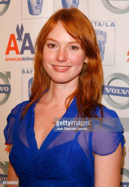 Actress Alicia Witt arrives at the BAFTA/LA Awards Season Tea Party at the Beverly Hills Hotel on January 10 2009 in Beverly Hills California