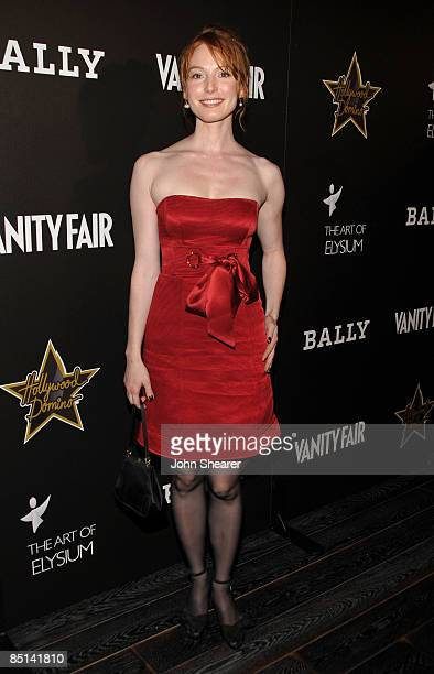 Actress Alicia Witt arrives at the Bally and Vanity Fair Hollywood Domino Game Night benefiting The Art of Elysium held at Andaz on February 20, 2009...