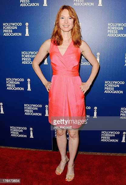Actress Alicia Witt arrives at the Hollywood Foreign Press Association's 2013 Installation Luncheon at The Beverly Hilton Hotel on August 13 2013 in...