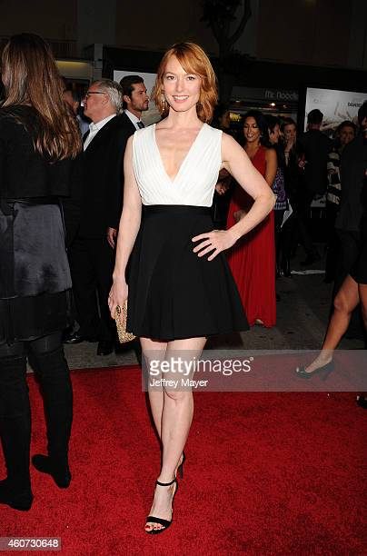 Actress Alicia Witt arrives at the Los Angeles premiere of 'Dumb And Dumber To' at Regency Village Theatre on November 3 2014 in Westwood California