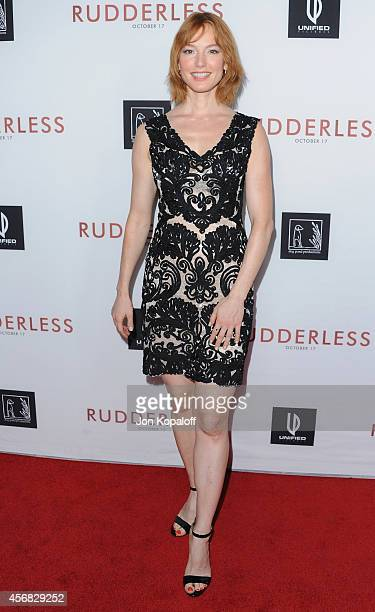 Actress Alicia Witt arrives at the Los Angeles VIP Screening 'Rudderless' at the Vista Theatre on October 7 2014 in Los Angeles California