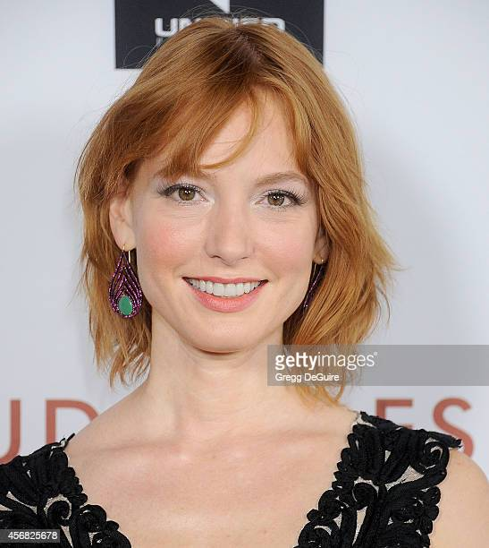 Actress Alicia Witt arrives at the Los Angeles VIP Screening of 'Rudderless' at the Vista Theatre on October 7 2014 in Los Angeles California