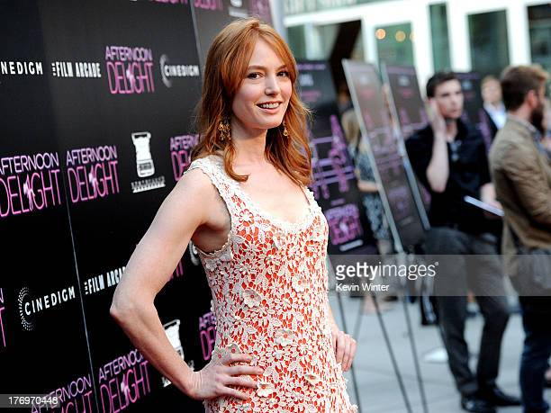 Actress Alicia Witt arrives at the premiere of The Film Arcade and Cinedigm's 'Afternoon Delight' at the Arclight Theatre on August 19 2013 in Los...