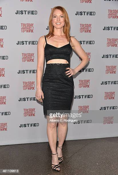 Actress Alicia Witt arrives to the Season 5 premiere of FX's 'Justified' at DGA Theater on January 6 2014 in Los Angeles California