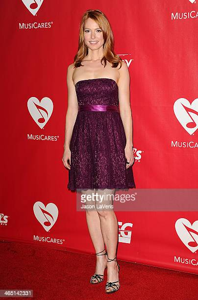 Actress Alicia Witt attends the 2014 MusiCares Person of the Year honoring Carole King at Los Angeles Convention Center on January 24 2014 in Los...