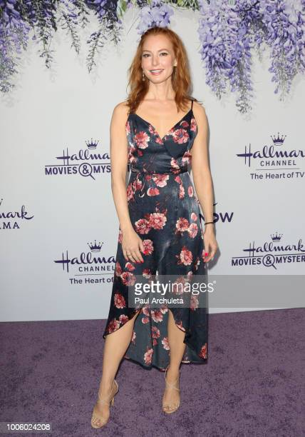 Actress Alicia Witt attends the 2018 Hallmark Channel Summer TCA at Private Residence on July 26 2018 in Beverly Hills California