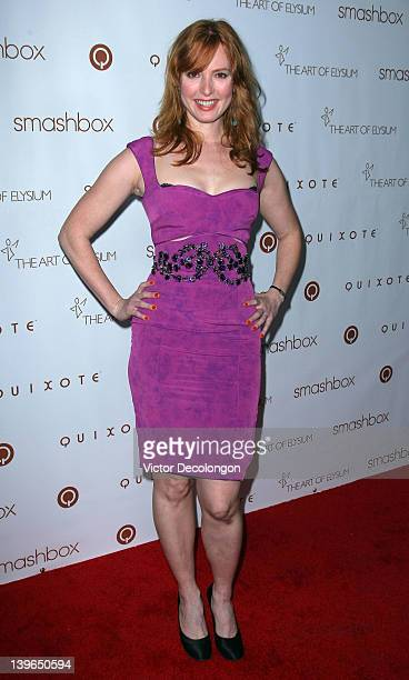 Actress Alicia Witt attends The Art Of Elysium Hosts 5th Annual Pieces Of Heaven Art Auction at Smashbox West Hollywood on February 23 2012 in West...