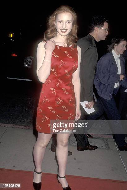 Actress Alicia Witt attends the 'From Dusk Till Dawn' Hollywood Premiere on January 17 1996 at Pacific's Cinerama Dome in Hollywood California