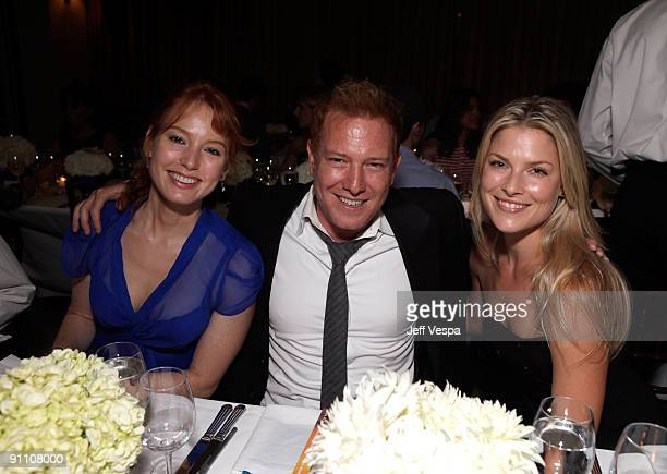 Actress Alicia Witt, producer Ryan Kavanaugh and actress Ali Larter attend The Art of Elysium HEAVEN Gala Committee Dinner hosted by Gilt Groupe at...