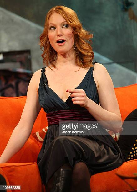 Actress Alicia Witt visits fuse's The Sauce at fuse Studios on January 30 2008 in New York City