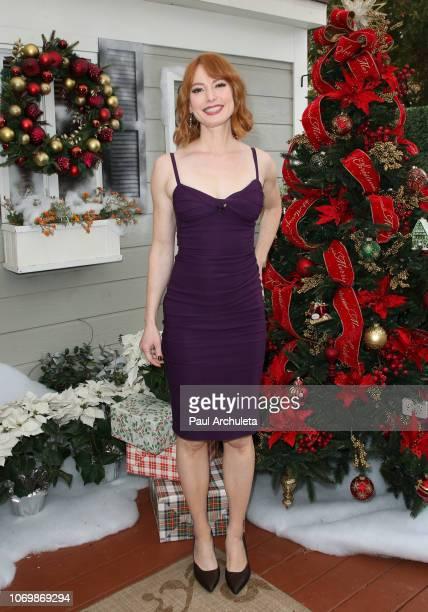 Actress Alicia Witt visits Hallmark's 'Home Family' at Universal Studios Hollywood on November 19 2018 in Universal City California