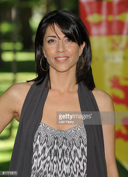 Actress Alicias Borrachero attends The Chronicles of Narnia Prince Caspian photocall at Retiro Park on June 30 2008 in Madrid Spain
