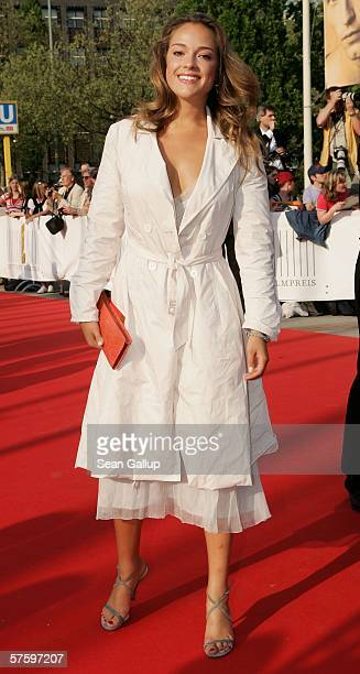 Actress Alicja BacheldaCurus arrives at the German Film Awards at the Palais am Funkturm May 12 2006 in Berlin Germany