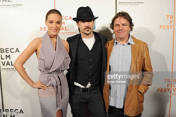 Actress Alicja Bachleda actor Colin Farrell and director Neil Jordan attend the premiere of Ondine during the 2010 Tribeca Film Festival at the...