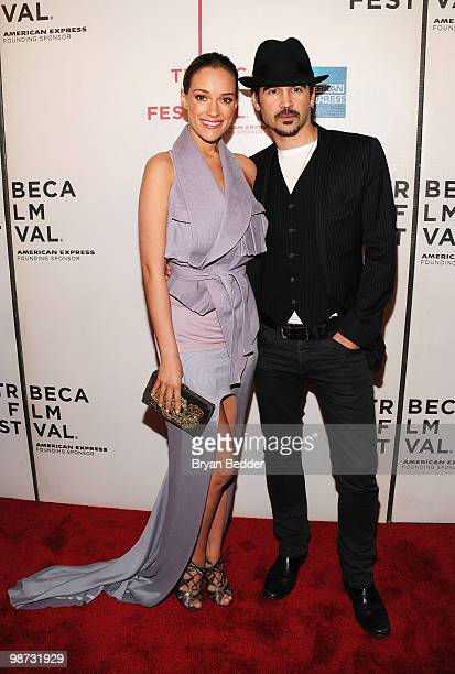 Actress Alicja Bachleda and actor Colin Farrell attend the premiere of Ondine during the 2010 Tribeca Film Festival at the Tribeca Performing Arts...