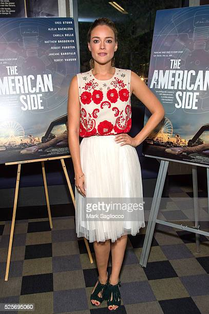Actress Alicja Bachleda attends the The American Side New York Screening at the IFC Center on April 28 2016 in New York City