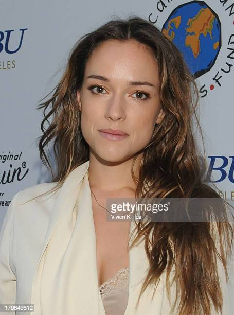 Actress Alicja BachledaCurus attends Making A Difference Together Cambodian Children's Fund on June 15 2013 in Los Angeles California
