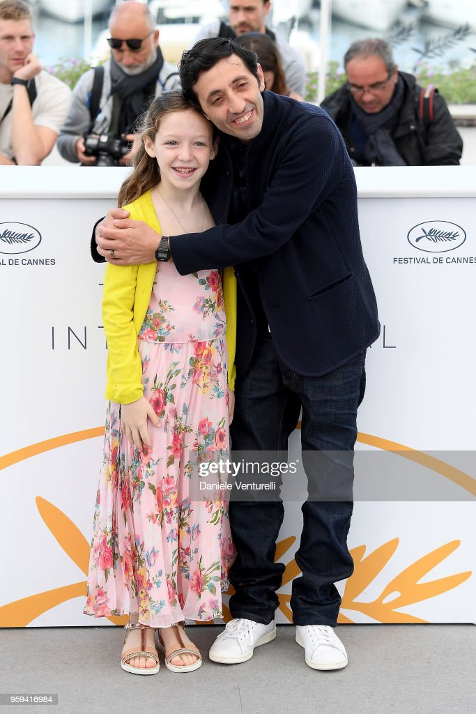 Actress, Alida Baldari Calabria (L) and actor Marcello Fonte attend the photocall for the 'Dogman' during the 71st annual Cannes Film Festival at Palais des Festivals on May 17, 2018 in Cannes, France.
