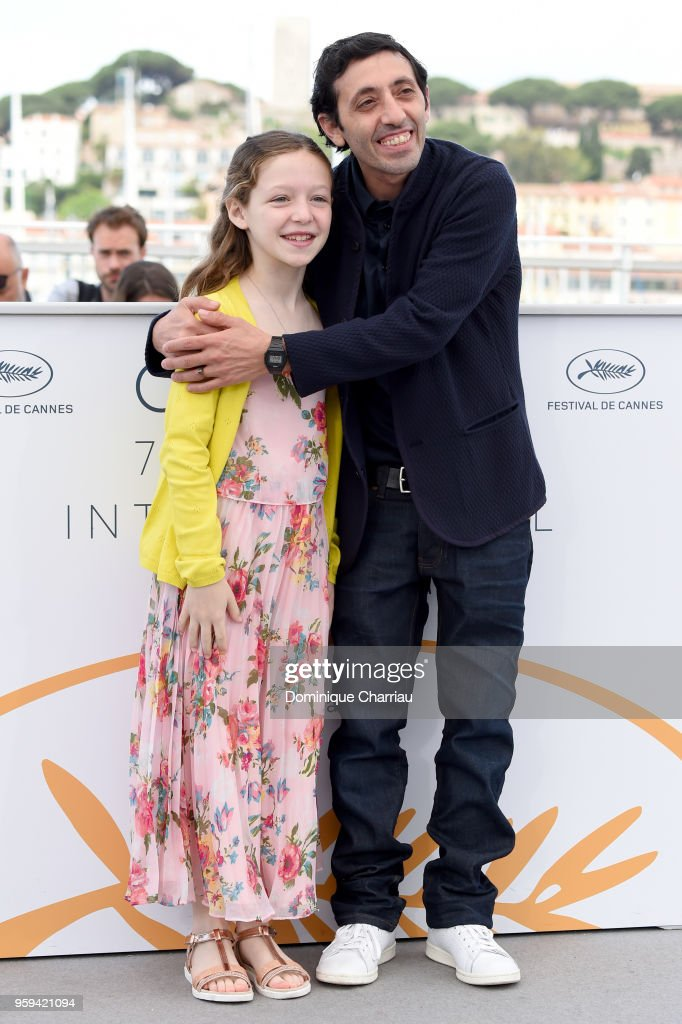 Actress Alida Baldari Calabria and Marcello Fonte attend 'Dogman' Photocall during the 71st annual Cannes Film Festival at Palais des Festivals on May 17, 2018 in Cannes, France.