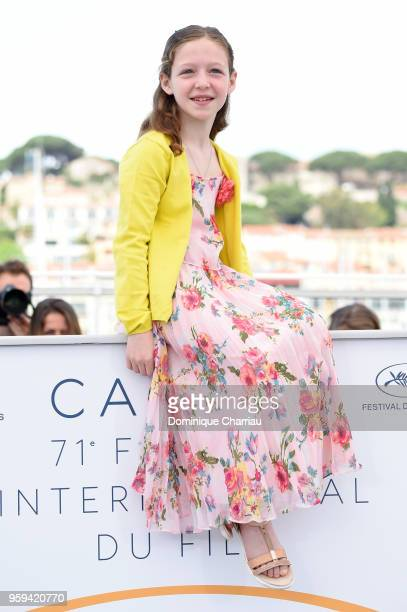 Actress Alida Baldari Calabria attends 'Dogman' Photocall during the 71st annual Cannes Film Festival at Palais des Festivals on May 17 2018 in...