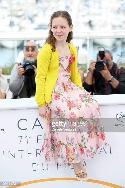 Actress Alida Baldari Calabria attends the photocall for the 'Dogman' during the 71st annual Cannes Film Festival at Palais des Festivals on May 17...