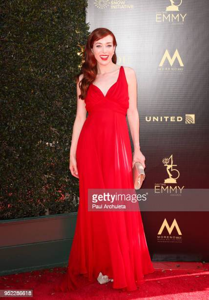 Actress Alie Ward attends the 45th Annual Daytime Creative Arts Emmy Awards at the Pasadena Civic Auditorium on April 27 2018 in Pasadena California
