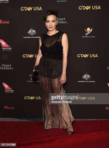Actress Alin Sumarwata arrives at the 2018 G'Day USA Los Angeles Black Tie Gala at the InterContinental Los Angeles Downtown on January 27 2018 in...