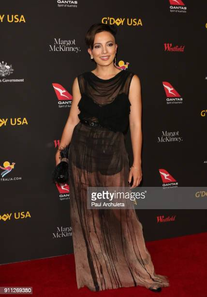Actress Alin Sumarwata attends the 2018 G'Day USA Los Angeles Black Tie Gala at the InterContinental Los Angeles Downtown on January 27 2018 in Los...
