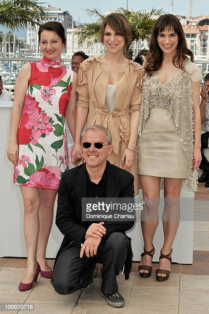 Actress Alina Berzenteanu Stefania Montorsi and Isabella Ragonese and director Danilele Luchetti attend the 'Our Life' Photo Call held at the Palais...