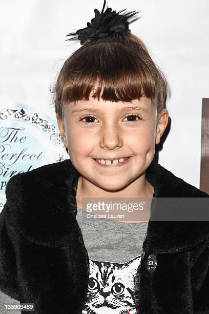 Actress Alina Foley arrives at the End Malaria Now premiere benefit at Cafe Entourage on November 21 2011 in Hollywood California