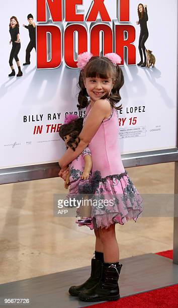 Actress Alina Foley arrives at the premiere 'The Spy Next Door' in Los Angeles on January 9 2010 AFP PHOTO/VALERIE MACON