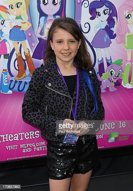 Actress Alina Foley attends the premiere of 'My Little Pony Equestria Girls' at the 2013 Los Angeles Film Festival at the Regal Cinemas LA Live on...