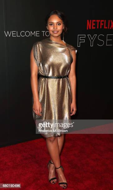 Actress Alisha Boe arrives at the Netflix FYSee Kick Off Event at Netflix FYSee Space on May 7 2017 in Beverly Hills California