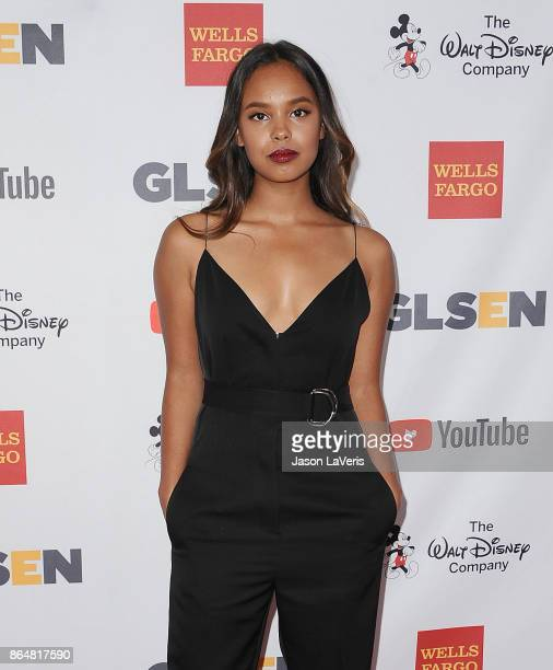 Actress Alisha Boe attends the 2017 GLSEN Respect Awards at the Beverly Wilshire Four Seasons Hotel on October 20 2017 in Beverly Hills California
