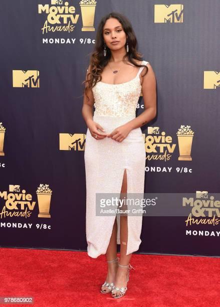 Actress Alisha Boe attends the 2018 MTV Movie And TV Awards at Barker Hangar on June 16 2018 in Santa Monica California