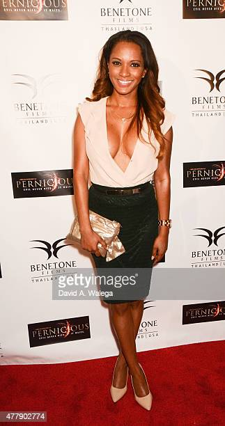 Actress Alisha Honore attends the 'Pernicious' premiere at Arena Cinema Hollywood on June 19 2015 in Hollywood California
