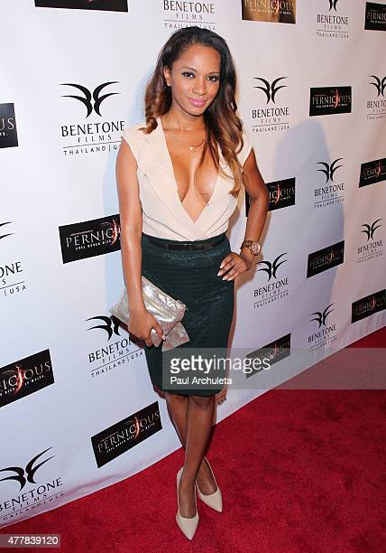 Actress Alisha Honore attends the premiere PERNICIOUS at Arena Cinema Hollywood on June 19 2015 in Hollywood California