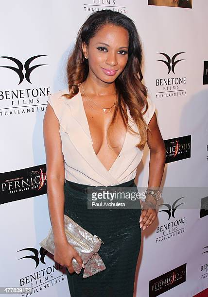 Actress Alisha Honore attends the premiere 'PERNICIOUS' at Arena Cinema Hollywood on June 19 2015 in Hollywood California