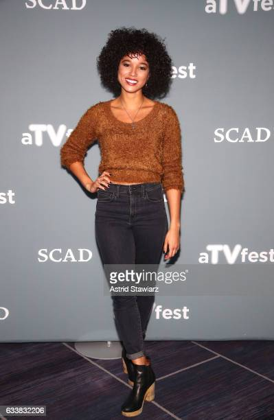 Actress Alisha Wainwright attends a press junket for Shadowhunters on Day Three of aTVfest 2017 presented by SCAD on February 4 2017 in Atlanta...