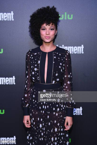 Actress Alisha Wainwright attends Hulu's New York Comic Con After Party at The Lobster Club on October 6 2017 in New York City