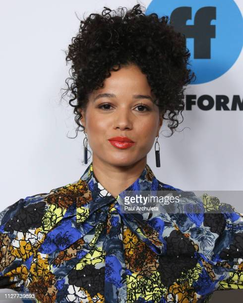 Actress Alisha Wainwright attends the Disney and ABC Television 2019 TCA Winter press tour at The Langham Huntington Hotel and Spa on February 05...