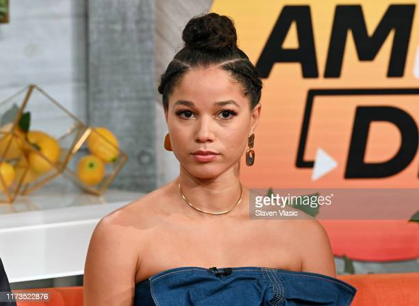 Actress Alisha Wainwright visits BuzzFeed's AM To DM to discuss Netflix's Raising Dion on October 3 2019 in New York City