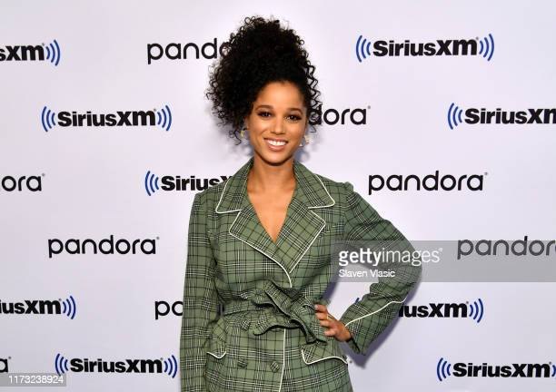 Actress Alisha Wainwright visits SiriusXM Studios to promote the television show Raising Dionon October 2 2019 in New York City