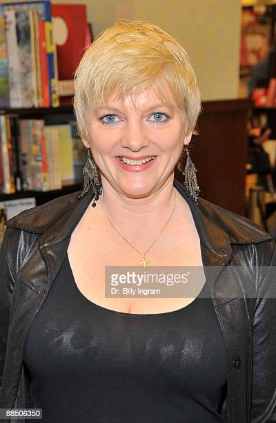 Actress Alison Arngrim looks on as Melissa Gilbert signs copies of her book 'Prairie Tale A Memoir' at Barnes Noble bookstore at The Grove on June 15...