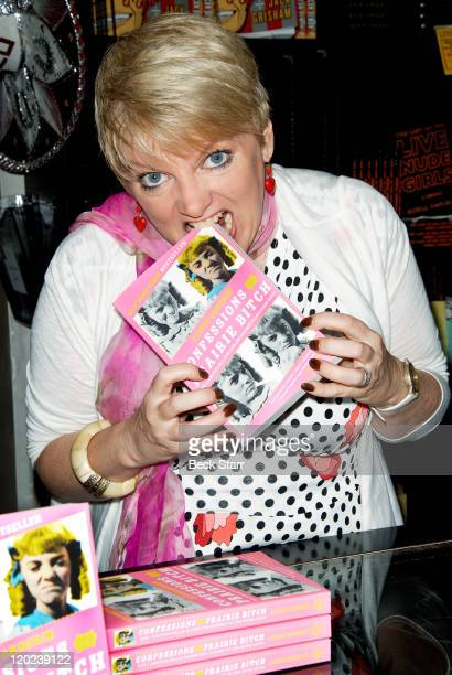 Actress Alison Arngrim signs copies of her new book 'Confessions Of A Prairie Bitch' at Book Soup on August 1 2011 in West Hollywood California