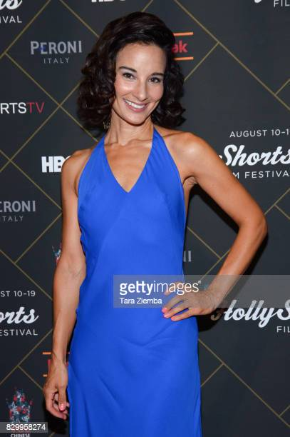 Actress Alison Becker attends the 2017 HollyShorts Film Festival Opening Night Gala at TCL Chinese 6 Theatres on August 10 2017 in Hollywood...