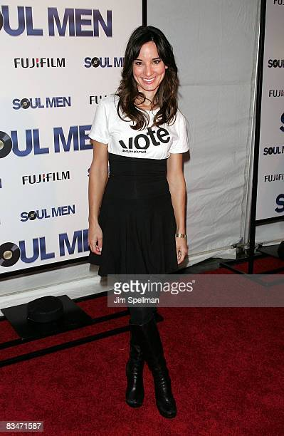 Actress Alison Becker attends the premiere of 'Soul Men' at the Apollo Theater on October 28 2008 in New York City