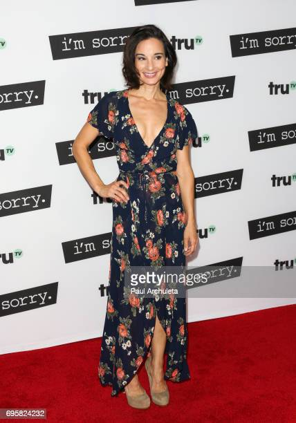 Actress Alison Becker attends the premiere of truTV's I'm Sorry at The SilverScreen Theater at the Pacific Design Center on June 13 2017 in West...
